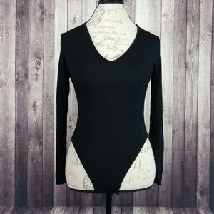 Nasty Gal Collection black long sleeve bodysuit